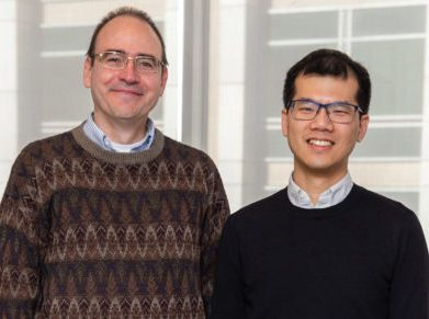 MIT professor Richard Braatz, left, and William Chueh, assistant professor in materials science and engineering at Stanford